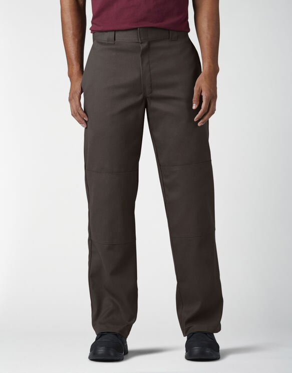 Loose Fit Double Knee Work Pants - Dark Brown (DB)