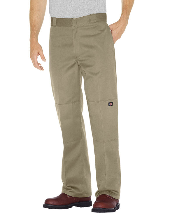 Loose Fit Double Knee Work Pants - Military Khaki (KH)