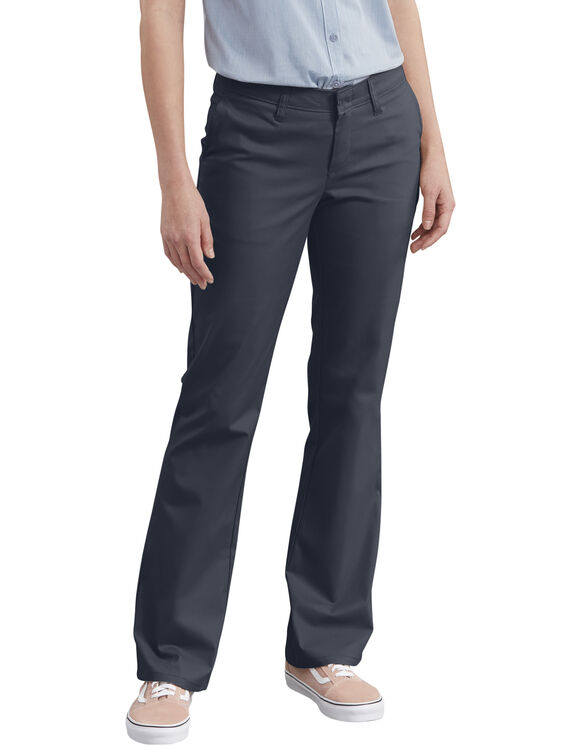 Women's Slim Fit Bootcut Stretch Twill Pants - Dark Navy (DN)