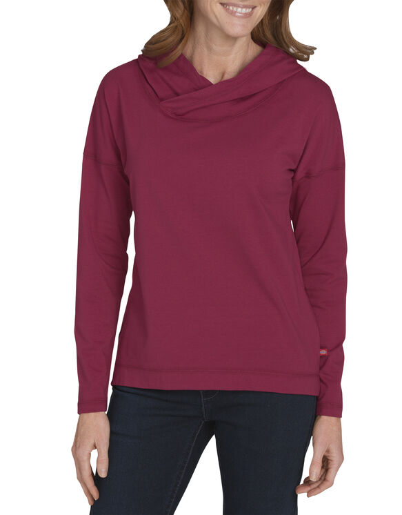 Women's Long Sleeve Knit Hoodie - ANEMONE (NO1)