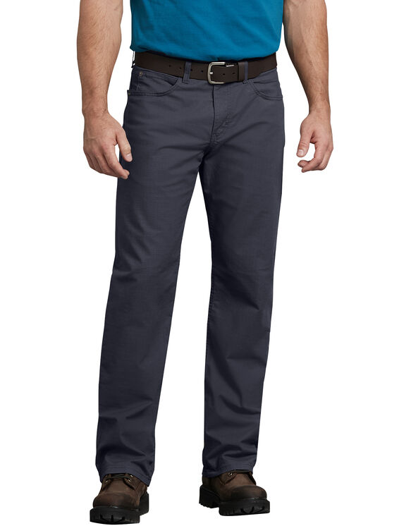 Pantalon 5 poches FLEX, coupe standard, jambe droite, en tissu antidéchirure Tough Max™ - RINSED DIESEL GRAY (RYG)