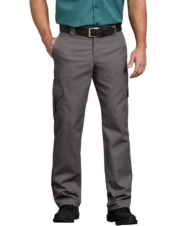 FLEX Regular Fit Straight Leg Cargo Pants - Gravel Gray (VG)
