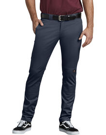 FLEX Skinny Straight Fit Double Knee Work Pants - Dark Navy (DN)