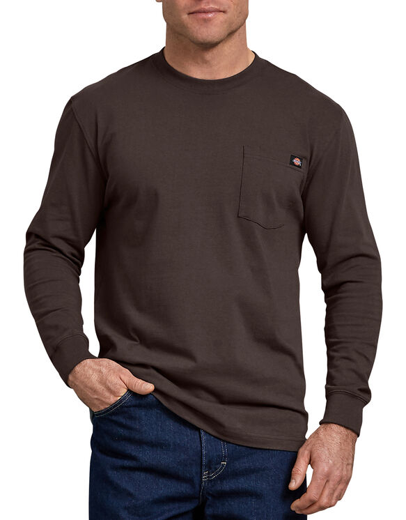 T-shirt à manches longues avec poche - Dark Brown (CB)
