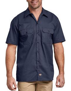 Short Sleeve Work Shirt - Navy Blue (NV)