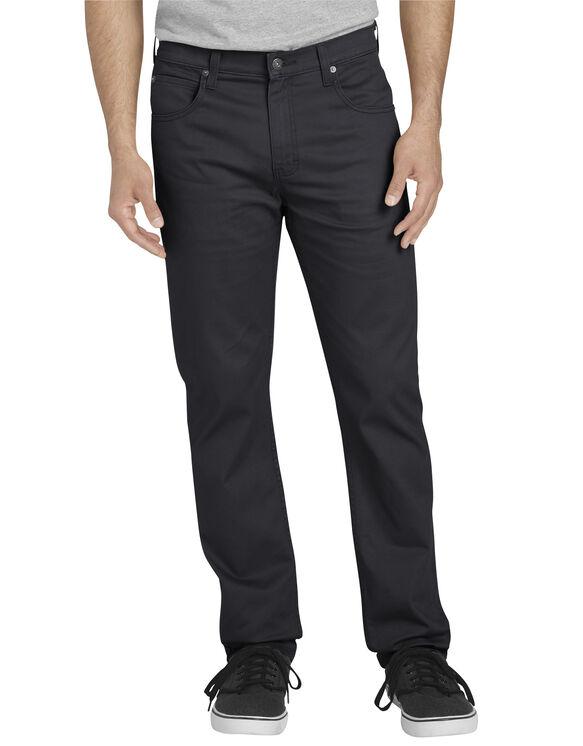 FLEX Slim Fit Tapered Leg 5-Pocket Pant - Rinsed Black (RBK)