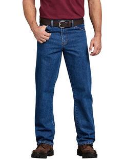 Regular Straight Fit 5-Pocket Denim Jeans - Stonewashed Indigo Blue (SNB)