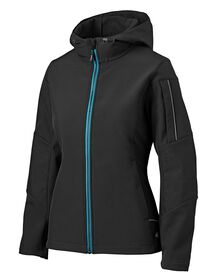 Women's Performance Workwear Softshell Jacket - Black (BK)
