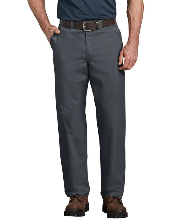 Industrial Relaxed Fit Straight Leg Comfort Waist Pant - Dark Charcoal Gray (DC)