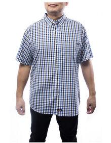 Everyday Men's Short Sleeve Plaid Shirt - Black (BK)