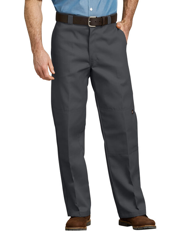 Loose Fit Double Knee Work Pant - Charcoal Gray (CH)
