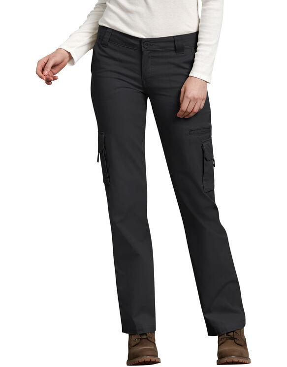 Pantalon cargo décontracté pour femmes - Noir rincé (RBK)