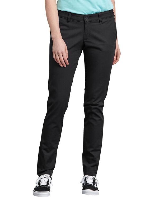 Pantalon en sergé extensible pour femmes - Noir rincé (RBK)