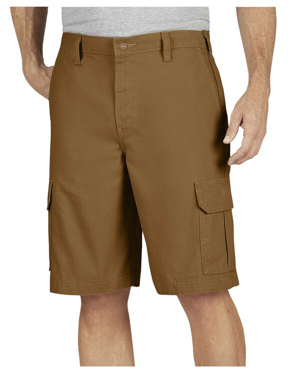 """11"""" Relaxed Fit Lightweight Duck Cargo Short - RINSED BROWN DUCK (RBD)"""