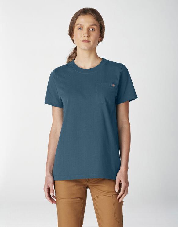 Women's Short Sleeve Heavyweight T-Shirt - Deep Sky (DS1)