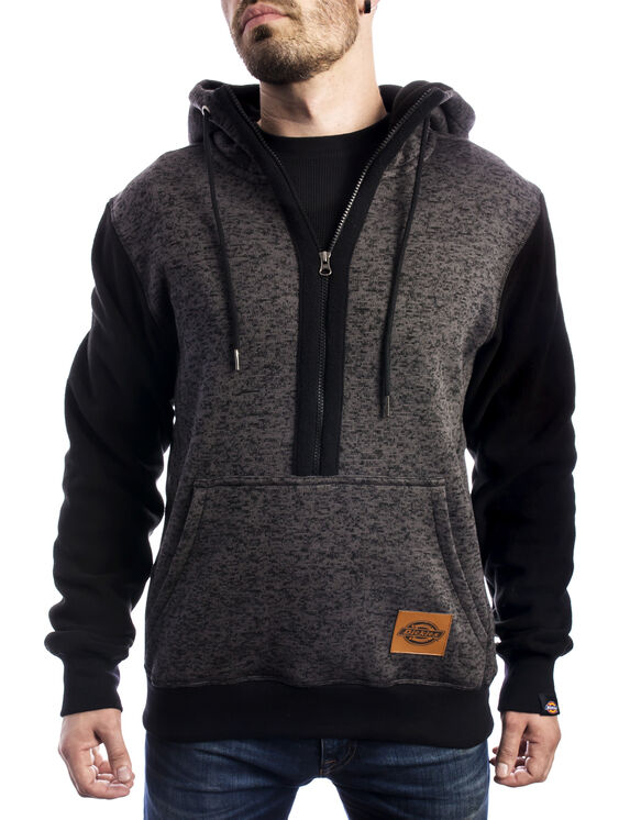 3/4 Zip Bryan Pullover Hoodie - Charcoal Gray (CH)