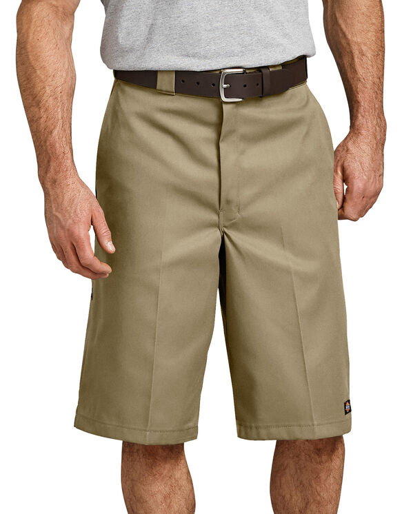 "13"" Loose Fit Multi-Use Pocket Work Short - Military Khaki (KH)"