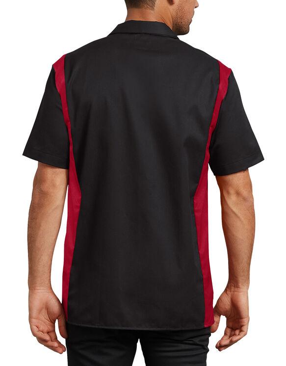 Chemise de travail deuxtons à manches courtes - Black Red Tone (BKER)