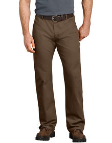 Jeans menuisier décontracté à jambe droite en coutil - Timber Brown (RTB)