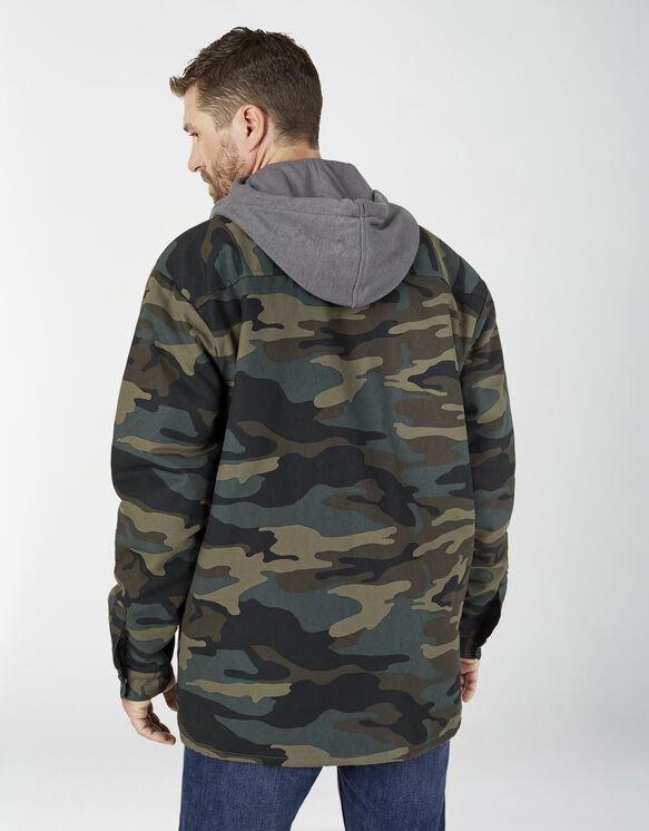 Fleece Hooded Duck Shirt Jacket with Hydroshield - Hunter Green Camo (HRC)