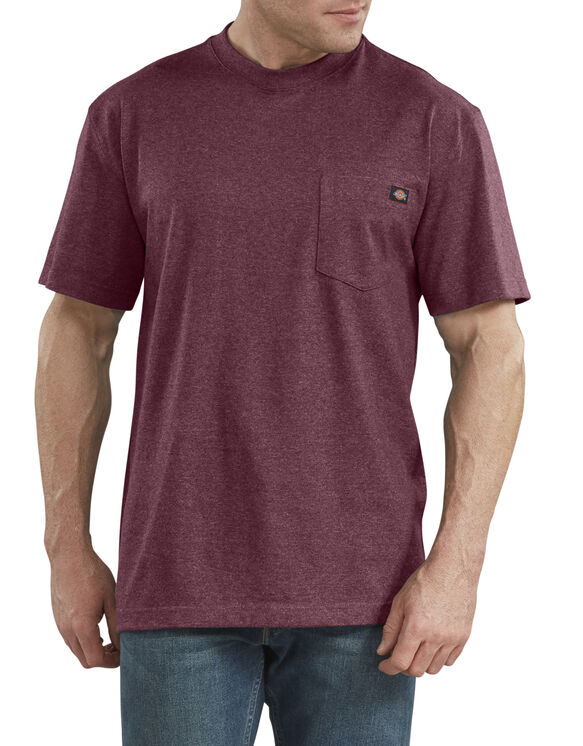 T-shirt en tissu chiné épais à manches courtes - Burgundy (BYD)