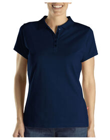 Women's Solid Piqué Polo - Dark Navy (DN)