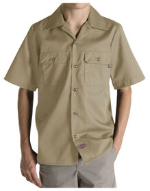 Boys' Twill Short Sleeve Shirt, 6-20 - Sable du désert (DS)
