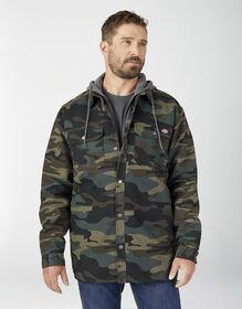 Veste-chemise en coutil avec capuchon en molleton et technologie Hydroshield - Hunter Green Camo (HRC)