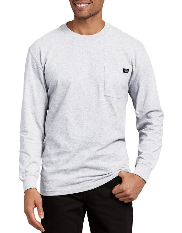 Long Sleeve Heavyweight Crew Neck Tee - Ash Gray (AG)
