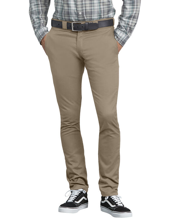FLEX Skinny Straight Fit Work Pants - Desert Khaki (DS)