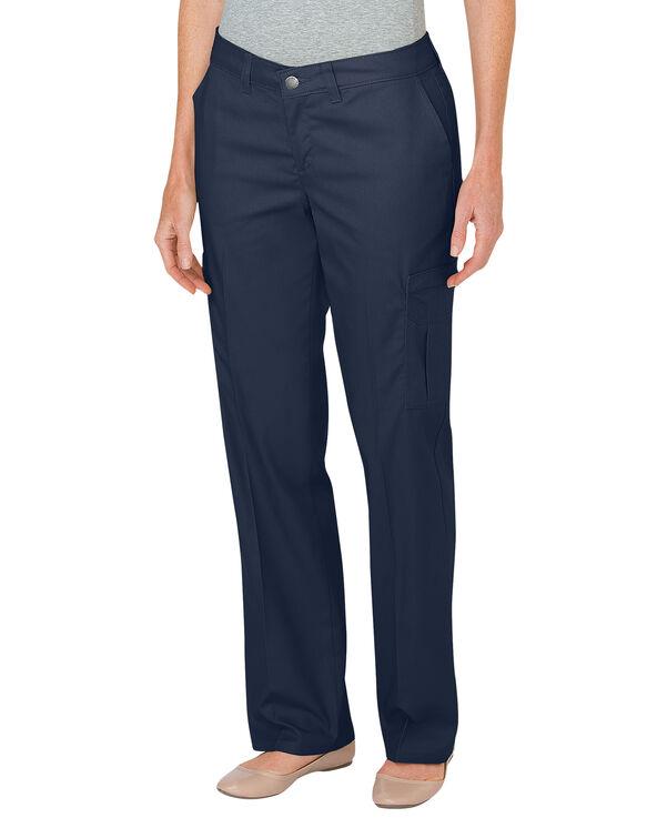 Women's Premium Relaxed Fit Straight Leg Cargo Pants - Dark Navy (DN)