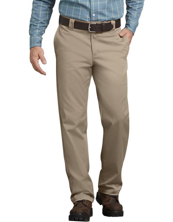 FLEX Regular Fit Straight Leg Tough Max™ Twill Work Pants - Desert Khaki (DS)