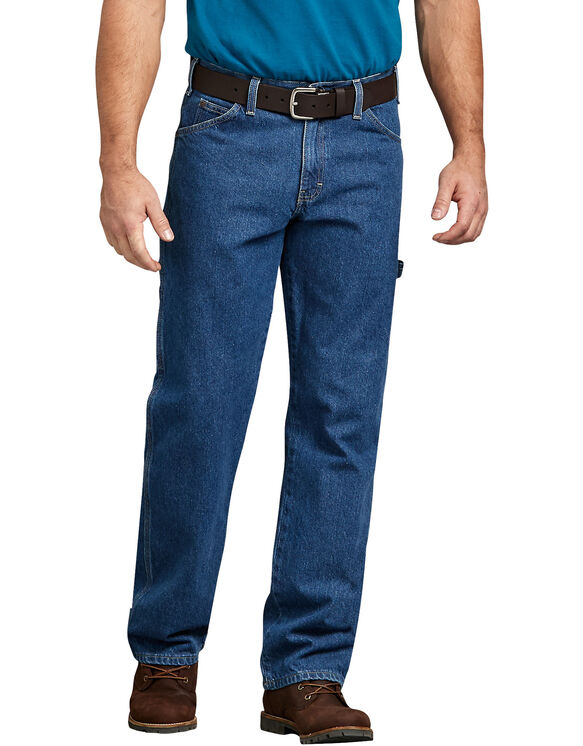 Jeans de menuisier - Bleu indigo délavé (SNB)