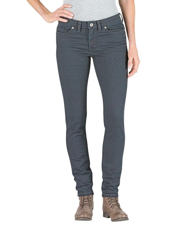 Jeans en denim pour femmes coupe ajustée jambe étroite - ANTIQUE DARK (ATD3)