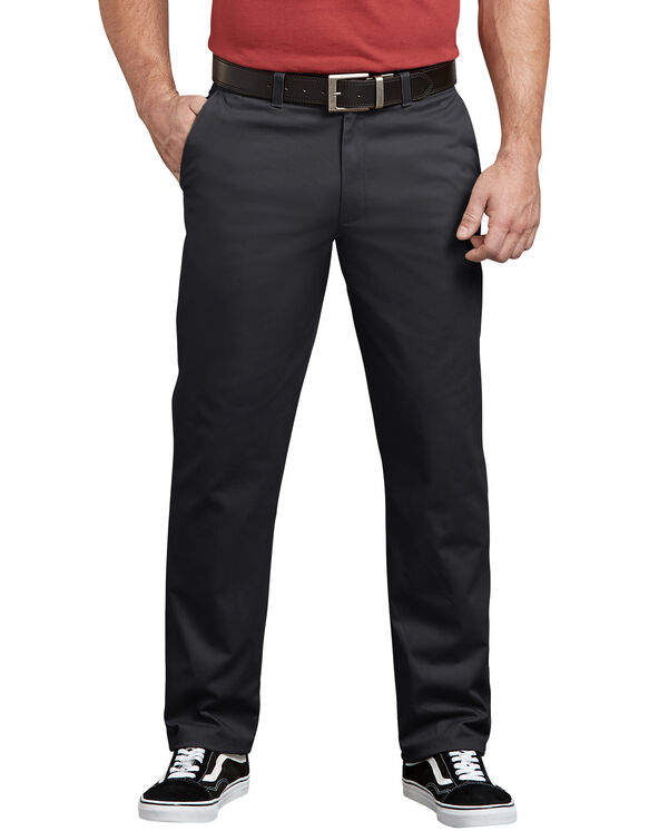 Dickies X-Series Active Waist Regular Tapered Fit Washed Chino Pants - Rinsed Black (RBK)