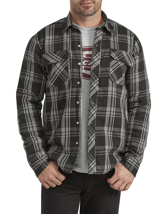 Modern Fit X-Series Snap-Front Shirt Jacket - Gray Plaid (PYT)