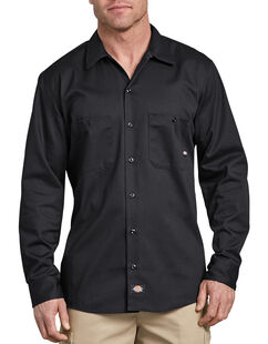 Long Sleeve Industrial Cotton Work Shirt - Black (BK)