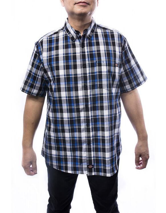 Chemise carreaux manches courtes homme pour la fin semaine - BLUE (BL9)