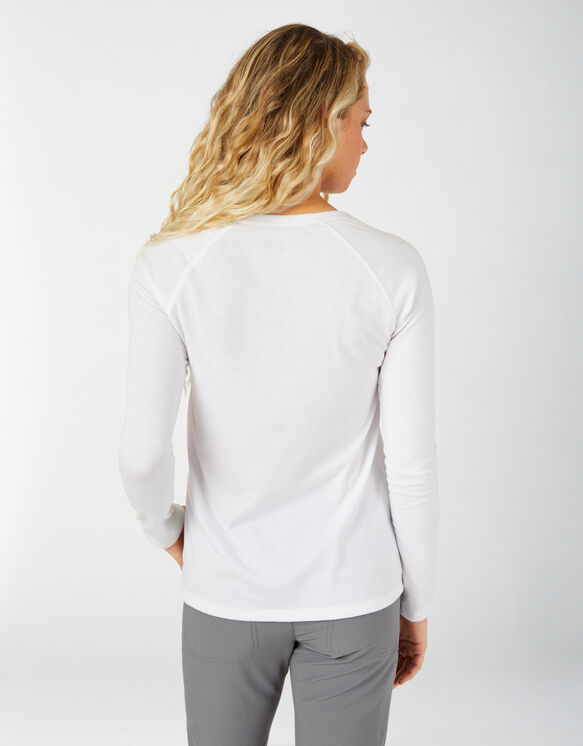 Women's Long Sleeve Temp-iQ® Performance T-Shirt - White (WH)
