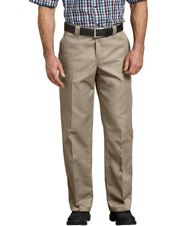 Flex Relaxed Fit Straight Leg Twill Work Pant - Desert Khaki (DS)