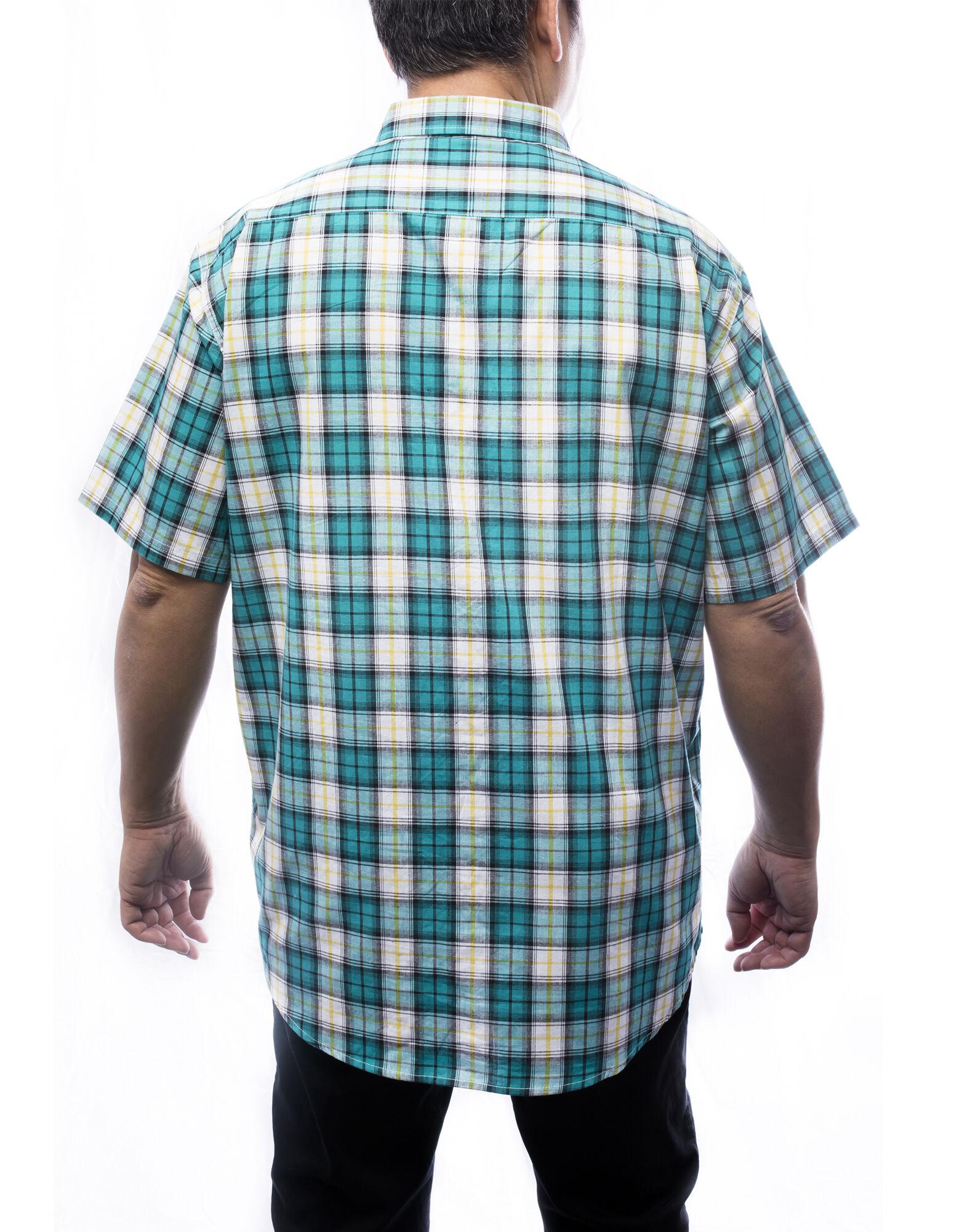 Men 39 s short sleeves plaid shirt dickies canada for Dickies short sleeve plaid shirt