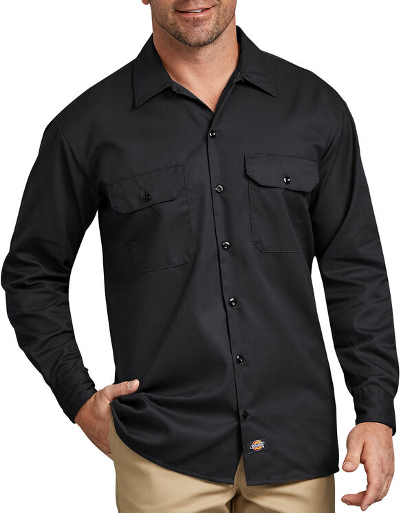 d4c51bc4201 Long Sleeve Work Shirt - Black ...