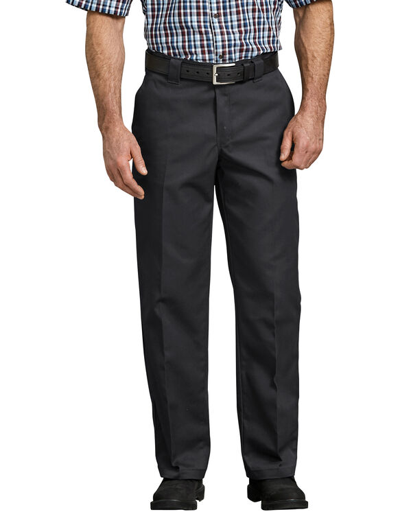 Flex Relaxed Fit Straight Leg Twill Work Pants - Black (BK)