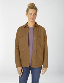 Women's Sherpa Lined Duck Chore Coat - Brown Duck (RBD)