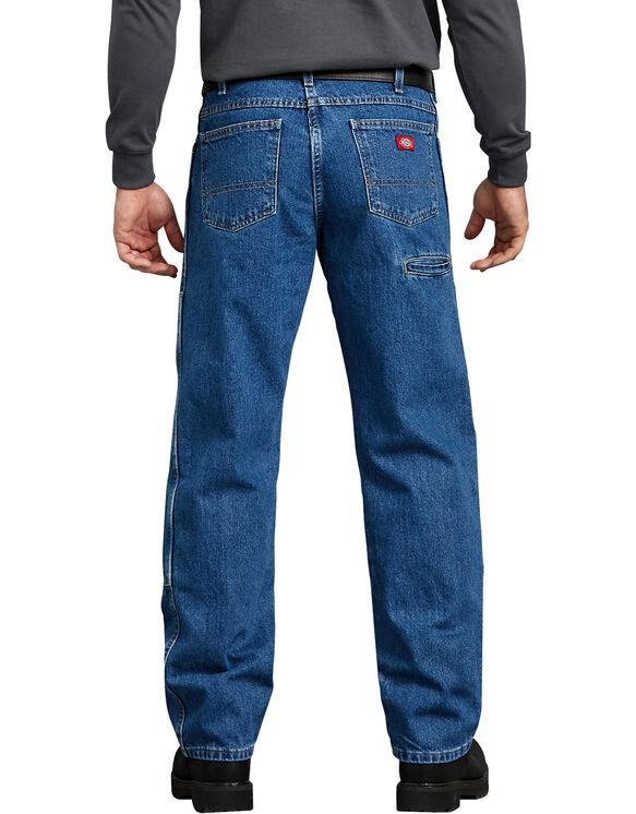 Jeans Workhorse délavé à la pierre coupe décontractée - Stonewashed Indigo Blue (SNB)
