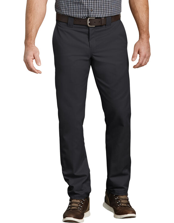 FLEX Slim Fit Taper Leg Multi-Use Pocket Work Pants - Black (BK)
