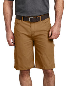 "11"" Relaxed Fit Lightweight Duck Carpenter Short - Brown Duck (RBD)"