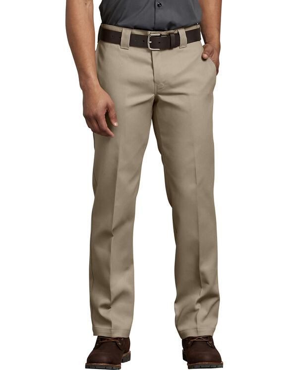 FLEX Slim Fit Straight Leg Work Pants - Desert Khaki (DS)