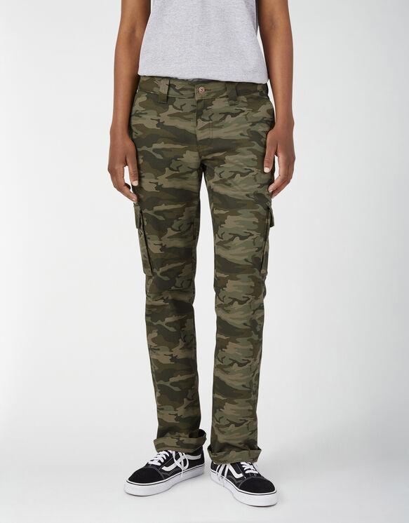 Pantalon cargo extensible pour femmes - Light Sage Camo (LSC)