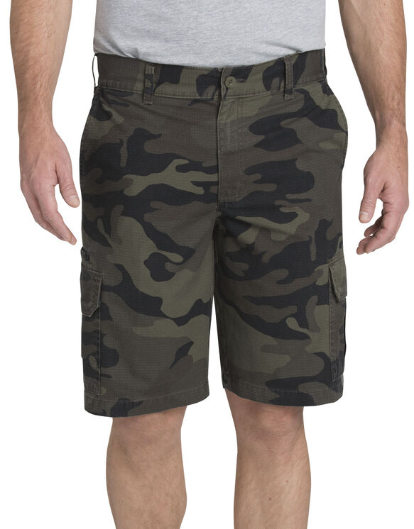 "11"" Relaxed Fit Lightweight Ripstop Cargo Short - Moss Green/Black Camo (SMBC)"